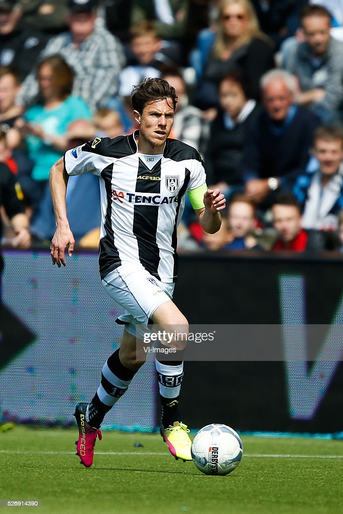 Mark-Jan Fledderus of Heracles Almelo during the Dutch Eredivisie match between Heracles Almelo and ADO Den Haag at Polman stadium on May 01, 2016 in Almelo, The Netherlands