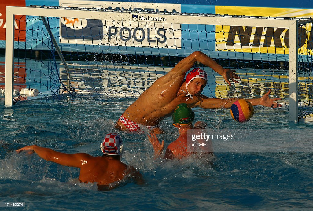 Marko Bijac of Croatia in action during the Men's Water Polo preliminary round match between Croatia and South Africa on day seven of the 15th FINA World Championships at the Piscina Bernat Picornell on July 26, 2013 in Barcelona, Spain.