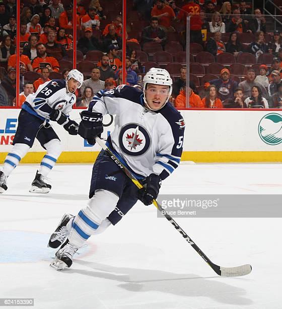 Marko Dano of the Winnipeg Jets skates against the Philadelphia Flyers at the Wells Fargo Center on November 17 2016 in Philadelphia Pennsylvania The...