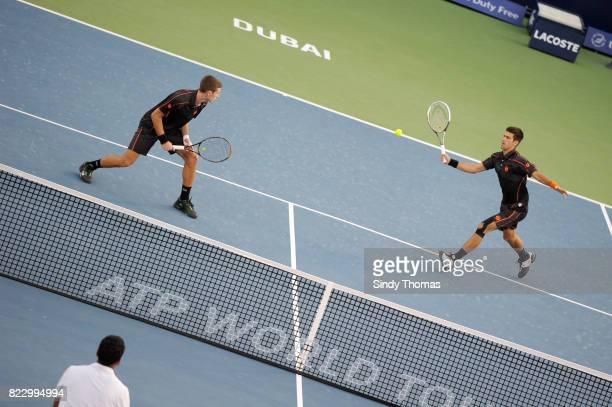 Marko Djokovic / Novak djokovic double Championship Duty Free Dubai 2011