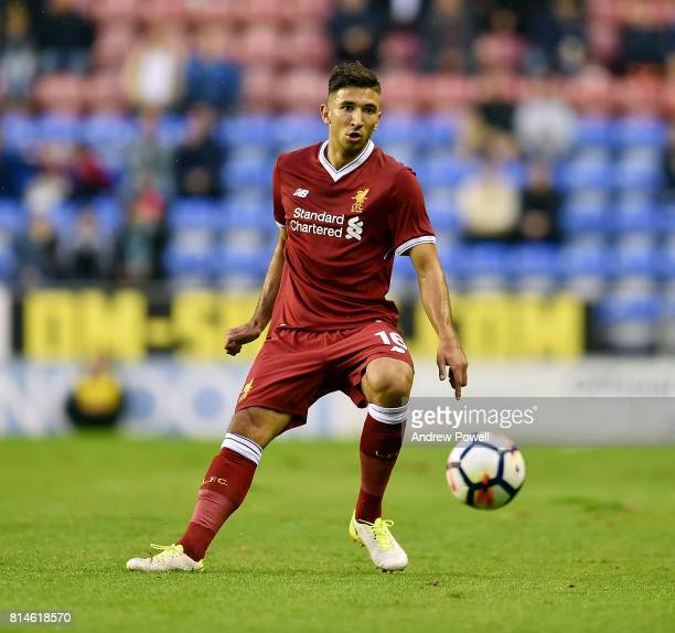 Marko Grujic of Liverpool during a Pre Season Friendly match between Wigan Athletic and Liverpool at DW Stadium on July 14 2017 in Wigan England
