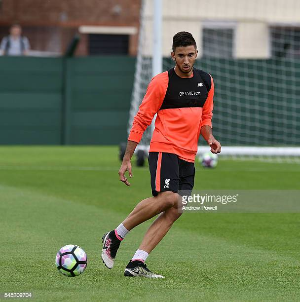 Marko Grujic of Liverpool during a training session at Melwood Training Ground on July 6 2016 in Liverpool England