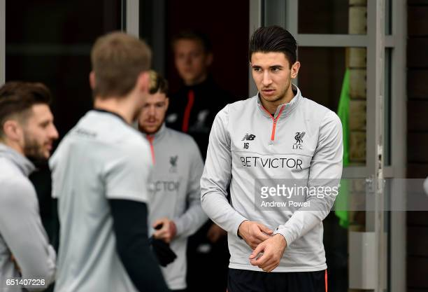 Marko Grujic of Liverpool during a training session at Melwood Training Ground on March 10 2017 in Liverpool England
