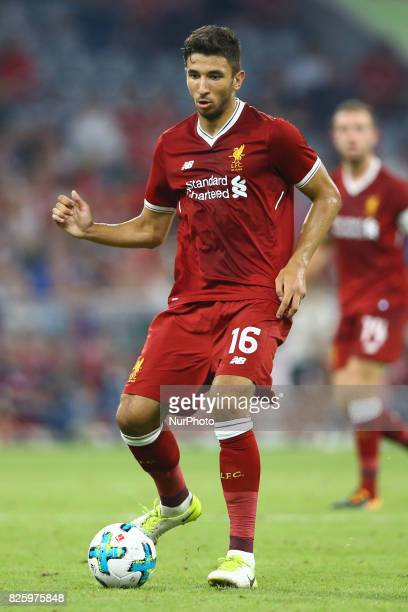 Marko Grujic of Liverpool during the Audi Cup 2017 match between Liverpool FC and Atletico Madrid at Allianz Arena on August 2 2017 in Munich Germany