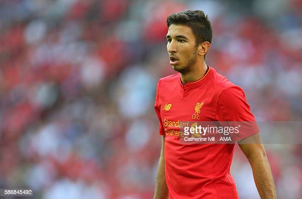 Marko Grujic of Liverpool during the International Champions Cup 2016 match between Liverpool and Barcelona at Wembley Stadium on August 6 2016 in...