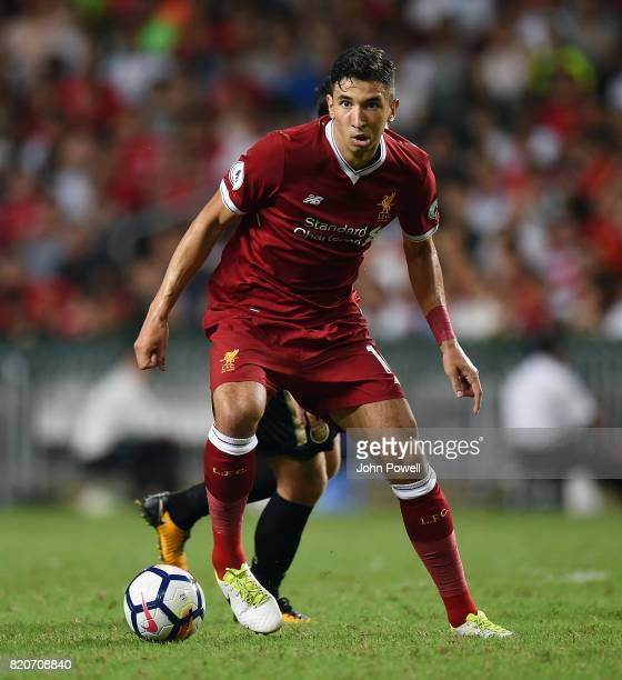 Marko Grujic of Liverpool during the Premier League Asia Trophy match between Liverpool FC and Leicester City FC at the Hong Kong Stadium on July 22...