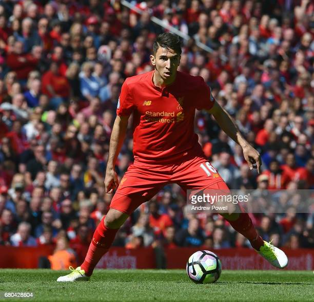 Marko Grujic of Liverpool during the Premier League match between Liverpool and Southampton at Anfield on May 7 2017 in Liverpool England