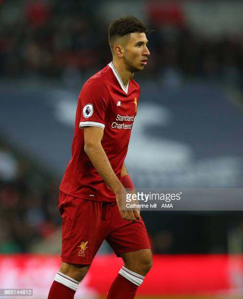 Marko Grujic of Liverpool during the Premier League match between Tottenham Hotspur and Liverpool at Wembley Stadium on October 22 2017 in London...