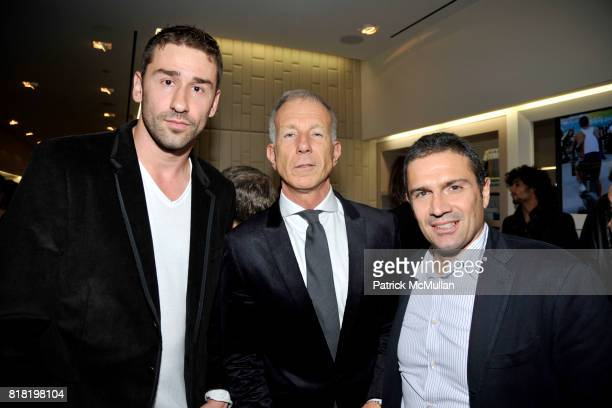 Marko Jaric Guido Bagatta and Alex Zampedri attend Technogym US Showroom Launch Event at 70 Greene St on November 16 2010 in New York City