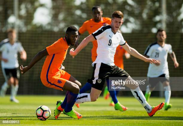 Marko Kvasina Jeremiah St Juste during the friendly match of national teams U21 of Austria vs The Netherlands in Pinatar Arena Murcia SPAIN March...