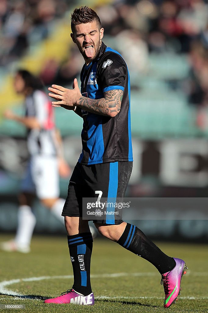 Marko Livaja of Atalanta BC reacts during the Serie A match between AC Siena and Atalanta BC at Stadio Artemio Franchi on March 3, 2013 in Siena, Italy.