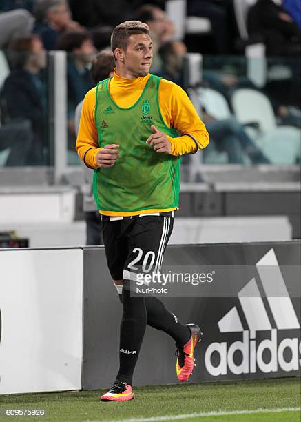 Marko Pjaca during Serie A match between Juventus v Cagliari in Turin on September 21 2016