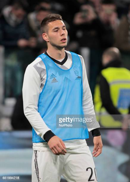 Marko Pjaca during Serie A match between Juventus v Milan in Turin on March 10 2017
