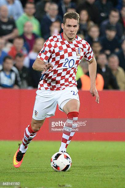 Marko Pjaca of Croatia during the European Championship match Round of 16 between Croatia and Portugal at Stade BollaertDelelis on June 25 2016 in...