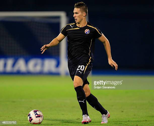Marko Pjaca of FC Dinamo Zagreb in action during the UEFA Champions League Third Qualifying Round 1st Leg match between FC Dinamo Zagreb and FC Molde...