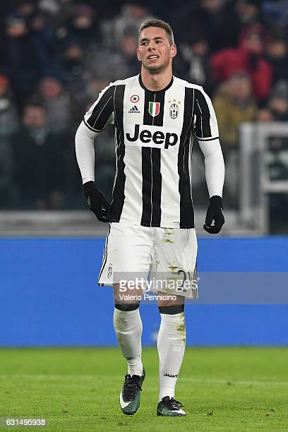 Marko Pjaca of FC Juventus reacts during the TIM Cup match between FC Juventus and Atalanta BC at Juventus Stadium on January 11 2017 in Turin Italy