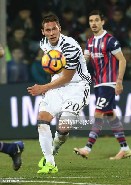 Marko Pjaca of Juventus during the Serie A match between FC Crotone and Juventus FC at Stadio Comunale Ezio Scida on February 8 2017 in Crotone Italy
