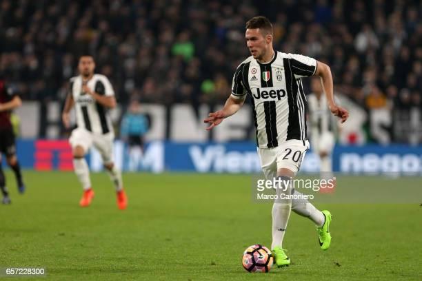 Marko Pjaca of Juventus FC in action during the Serie A football match between Juventus FC and Ac Milan at Juventus Stadium Juventus FC wins 21 over...