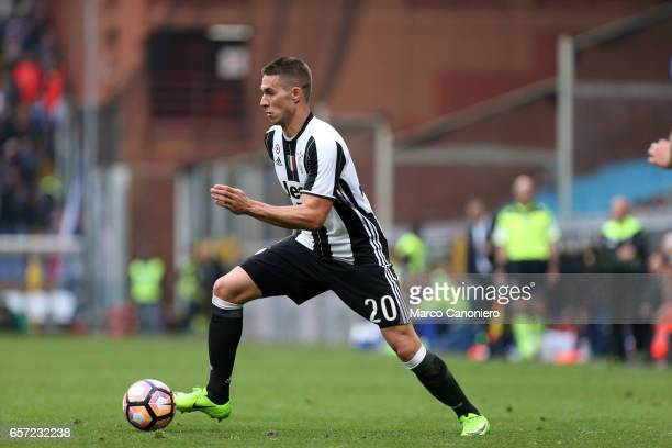 Marko Pjaca of Juventus Fc in action during the Serie A football match between UC Sampdoria and Juventus FC Juventus FC wins 10 over UC Sampdoria