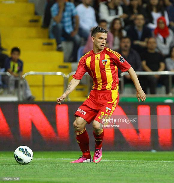 Marko Simic of Kayserispor in action during the Turkish Super League match between Kayserispor and Besiktas JK held on May 19 2013 at the Kadir Has...