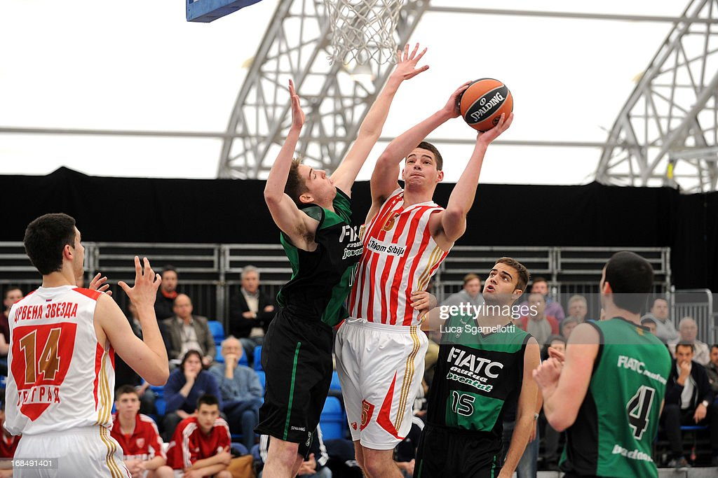 Marko Tejic, #15 of Crvena Zvezda Telekom in action during the Nike International Junior Tournament game between Club Joventut Badalona v Crvena Zvezda Telekom at London Soccerdome on May 10, 2013 in London, United Kingdom.