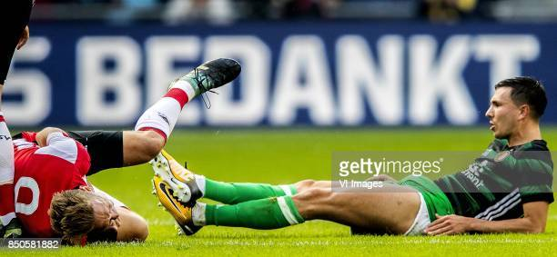 Marko van Ginkel Luuk de Jong of PSV Steven Berghuis of Feyenoord during the Dutch Eredivisie match between PSV Eindhoven and Feyenoord Rotterdam at...