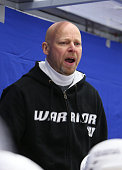 Marko Virtanen headcoach coach of JYP Jyvaskyla during the Champions Hockey League group stage game between HV71 Jonkoping and JYP Jyvaskyla on...