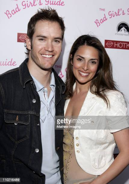 MarkPaul Gosselaar and wife Lisa Russell during 'The Bad Girl's Guide' Premiere Party sponsored by Hot Kiss at Beauty Bar in Hollywood California...