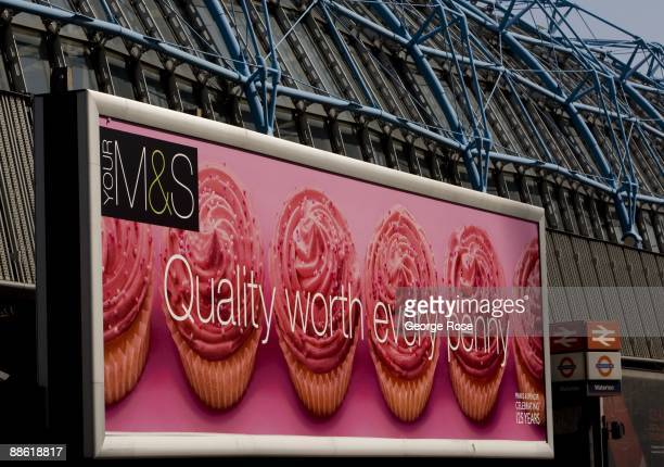 Marks Spencer billboard at Waterloo Railway Station is seen in this 2009 London United Kingdom cityscape photo