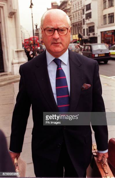 Marks Spencer chairman Sir Richard Greenbury arrives at London's High Court today for Marks Spencer's libel case against the Granada World in Action...