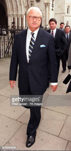 Marks Spencer chairman Sir Richard Greenbury outside London's High Court today for Marks Spencer's libel case against the Granada World in Action...