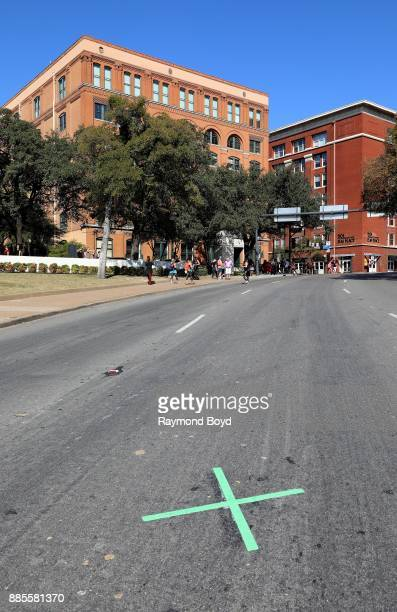 'X' marks the spot along Elm Street which is the site where President John F Kennedy was assassinated on November 22 1963 in Dallas Texas on November...