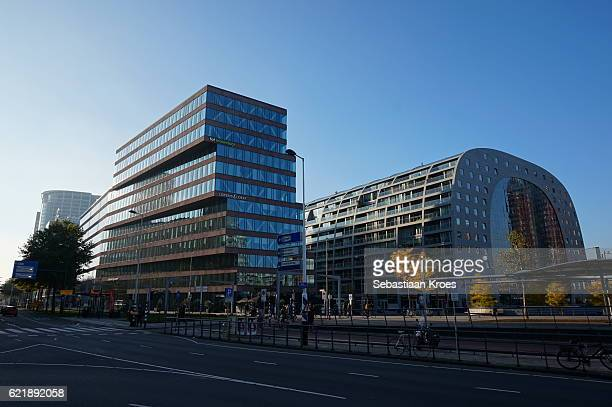 Markthal Building and surroundings, Autumn, Rotterdam, the Netherlands