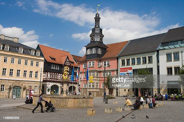 Marktplatz square and Rathaus city hall.