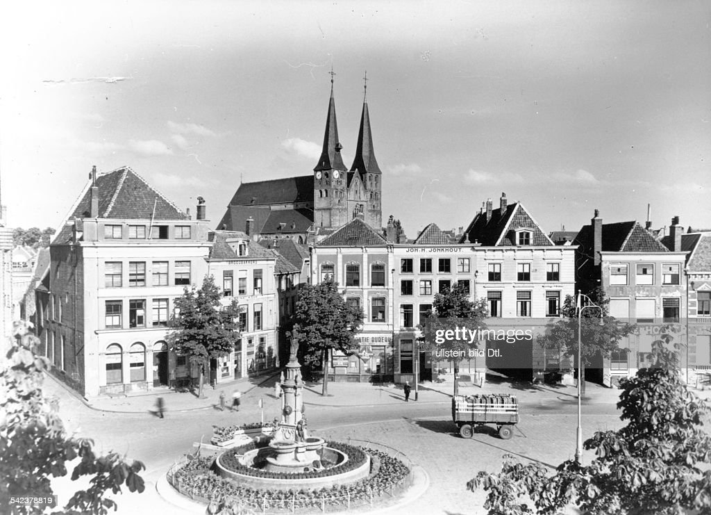 Marktplatz von Deventer 1946