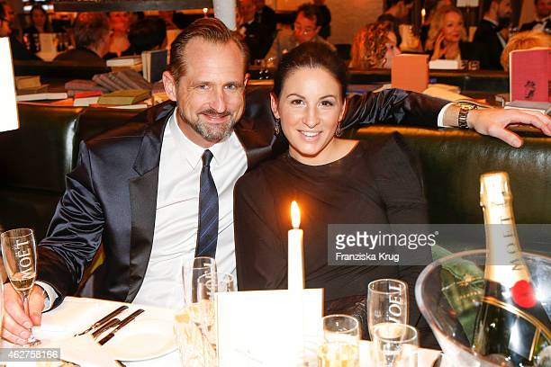 Markus Ammon and Minu Barati attend the Moet Chandon Grand Scores Dinner on February 04 2015 in Berlin Germany