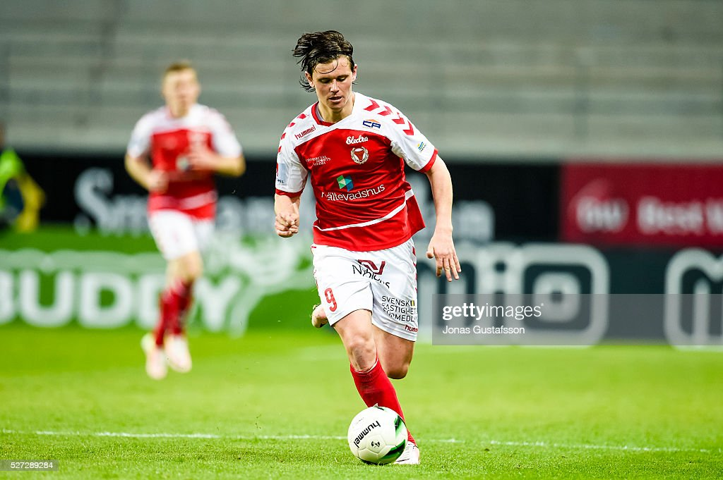 Markus Antonsson of Kalmar FF during the Allsvenskan match between Kalmar FF and Orebro SK at Guldfageln Arena on May 2, 2016 in Kalmar, Sweden.