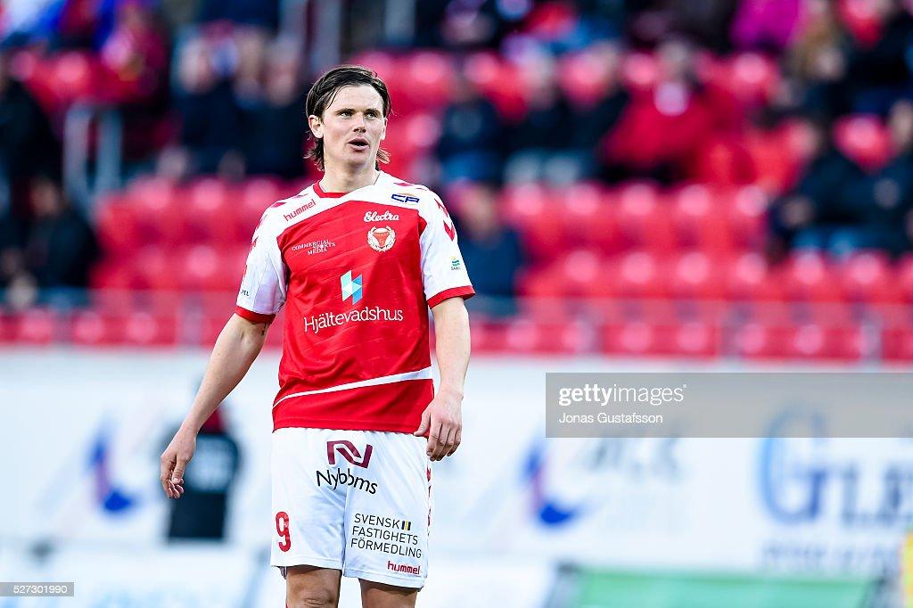 Markus Antonsson of Kalmar FF during the Allsvenskan match between Kalmar FF and Orebro SK at Guldfageln Arena on May 2, 2016 in Kalmar, Sweden.