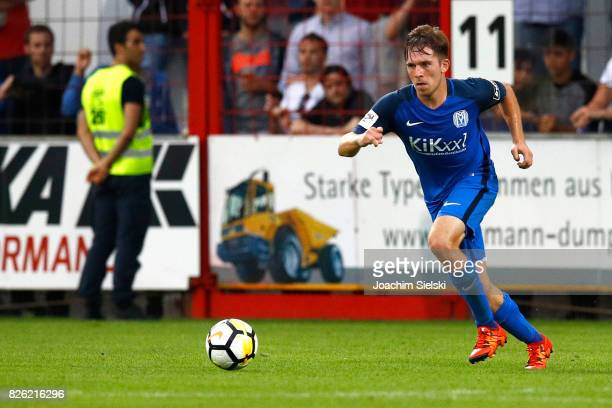 Markus Ballmert of Meppen during the 3 Liga match between SV Meppen and 1 FC Magdeburg at Haensch Arena on August 2 2017 in Meppen Germany