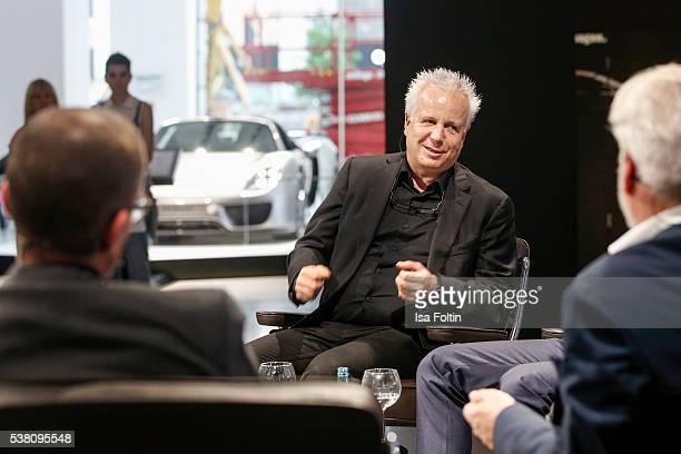 Markus Benz Martin Roth and Martin Berger diskuss the theme 'Wie schafft man es zur Legende zu werden' during the 5th Nachtschicht Berlin Design...