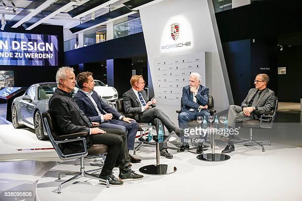 Markus Benz Peter Varga Andrej Kupetz Martin Roth and Martin Berger diskuss the theme 'Wie schafft man es zur Legende zu werden' during the 5th...