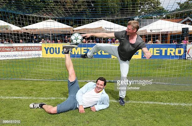 Markus Brandl and Martin Gruber during the charity football game 'Kick for Kids' to benefit 'Die Seilschaft zusammen sind wir stark eV' at the Prof...