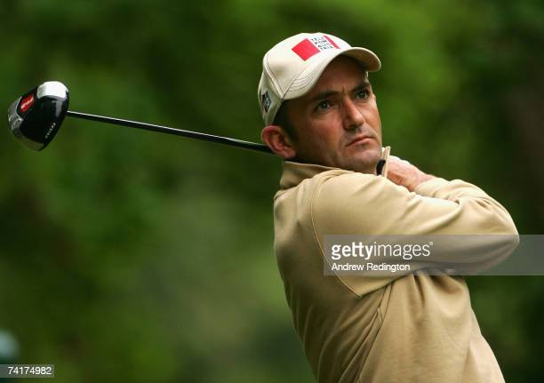Markus Brier of Austria tees off on the 17th hole during the first round of the Irish Open on May 17 2007 at the Adare Manor Hotel and Golf Resort in...