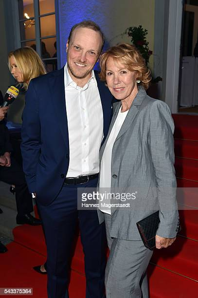 Markus Brunnemann and Gaby Dohm attend the UFA Fiction Reception during the Munich Film Festival 2016 at Cafe Reitschule on June 27 2016 in Munich...