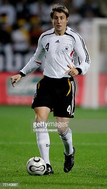 Markus Brzenska of Germany runs with the ball during the Men's European U21 Championship qualifying second leg game between Germany and England at...