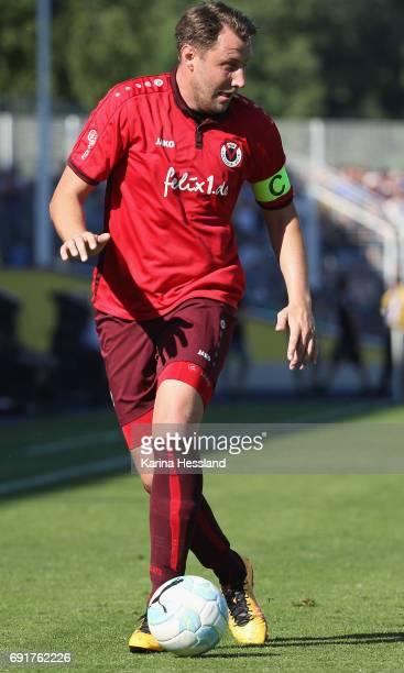 Markus Brzenska of Koeln during the Third League Playoff Leg Two between FC Carl Zeiss Jena and Viktoria Koeln on June 01 2017 at ErnstAbbeSportfeld...