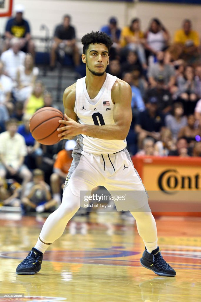 Markus Howard #0 of the Marquette Golden Eagles looks to pass the ball during a consultation college basketball game at the Maui Invitational against the LSU Tigers at the Lahaina Civic Center on November 22, 2017 in Lahaina, Hawaii. The Wolverines won 94-84.
