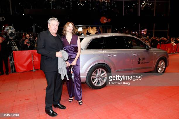 Markus Imboden and Martina Gedeck attend the 'Django' premiere during the 67th Berlinale International Film Festival Berlin at Berlinale Palace on...