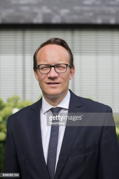 Markus Krebber chief financial officer of RWE AG poses for a photograph ahead of an interview at the company's offices in Essen Germany on Wednesday...