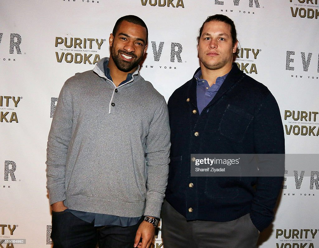 Markus Kuhn and Spencer Paysinger attend the opening of EVR 54 on January 15, 2013 in New York City.